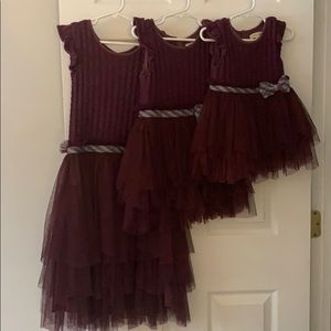 3 Matching Matilda Jane sweater and tulle dresses